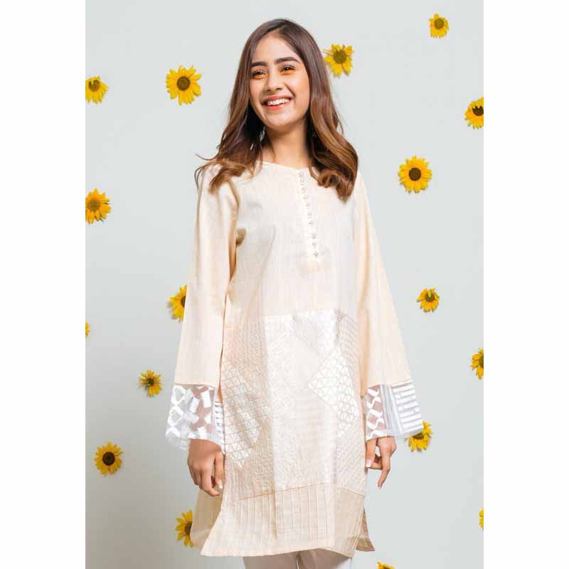 Sun Flower Shirt for Women - Peach