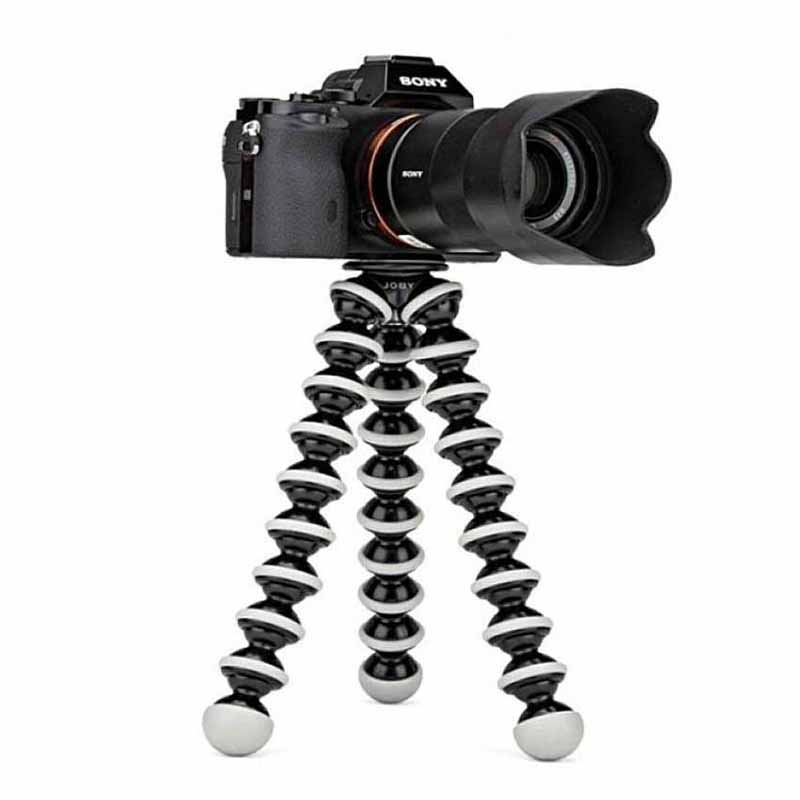Gorilla - Flodable Flexible - Dslr Camera & Mobile Professional Tripod Stand With Mobile Holder - Black