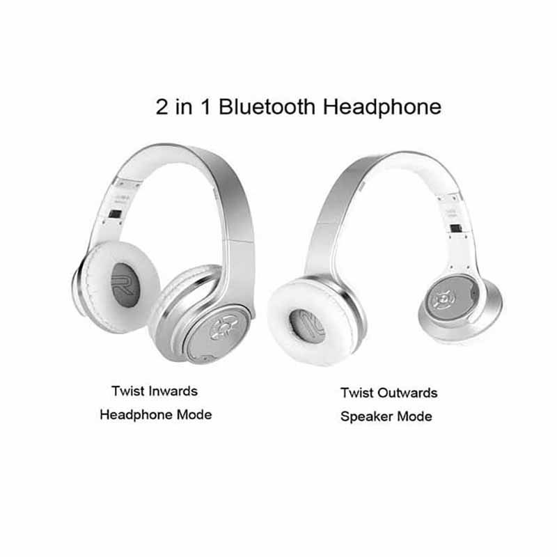 Wireless Bluetooth Speaker & Headphone 2 in 1 - FH1 - White