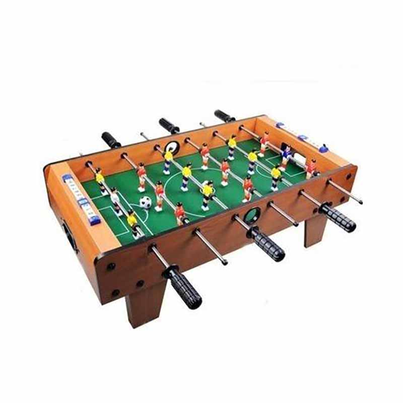 Wooden Soccer Football Game Table Small - Brown