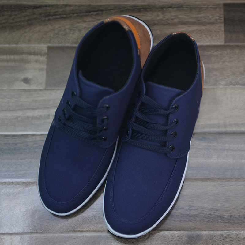 Lace Up Casual Shoes For Men - Navy Blue
